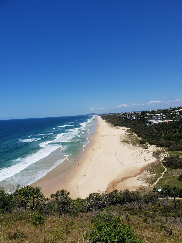 Isa´s favorite picture from Noosa Heads: the Sunshine Beach
