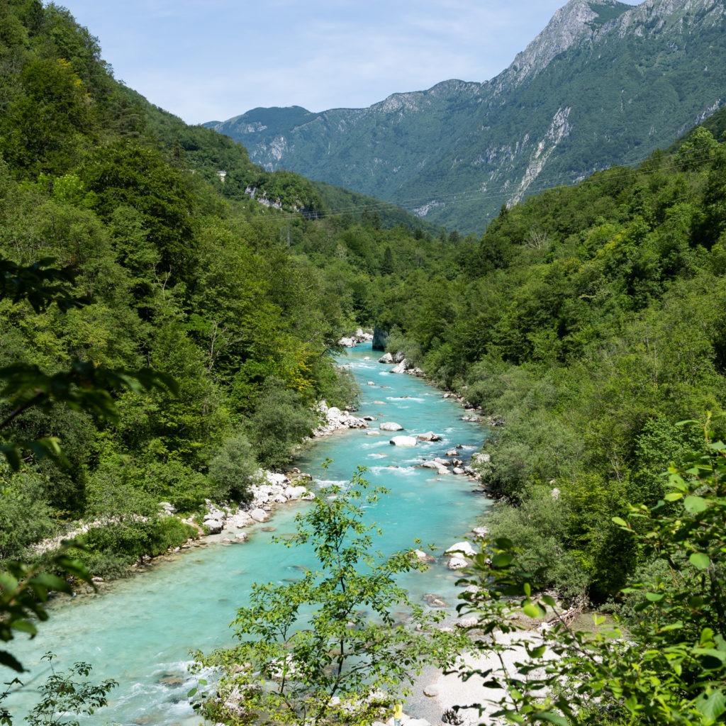 The Soca river in the Triglav Nationalpark.